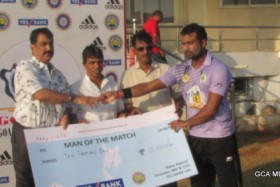 MAN OF THE MATCH 3 SAGUN KAMAT